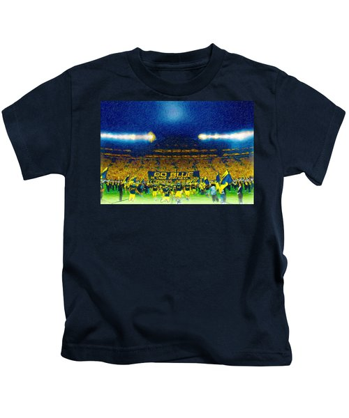 Glory At The Big House Kids T-Shirt by John Farr