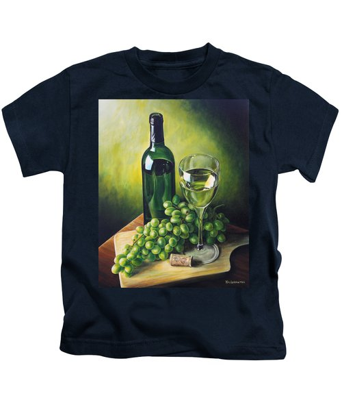 Grapes And Wine Kids T-Shirt