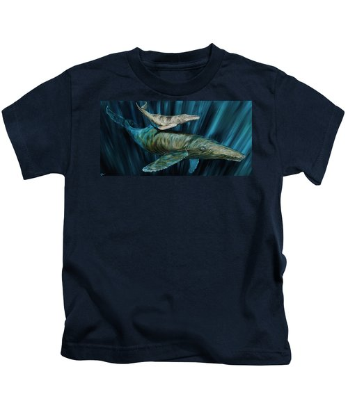 Graywhale Momma And Calf Kids T-Shirt