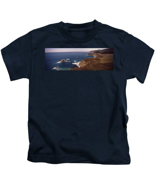 High Angle View Of A Coastline, Big Kids T-Shirt