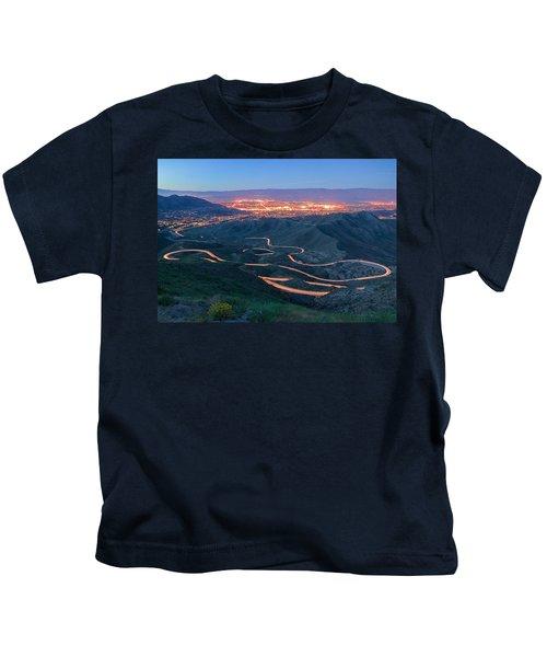 Highway 74 Palm Desert Ca Vista Point Light Painting Kids T-Shirt