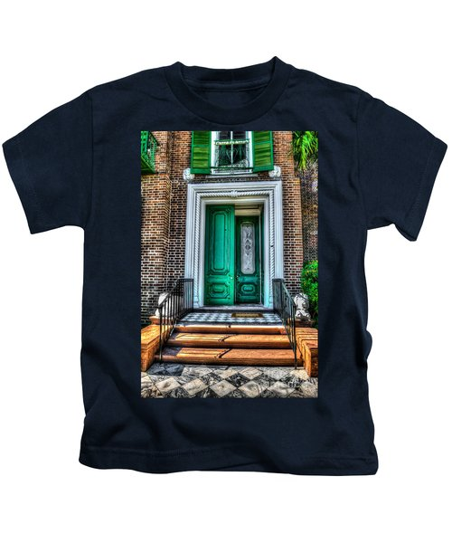 Historic Charleston Sc Door Kids T-Shirt