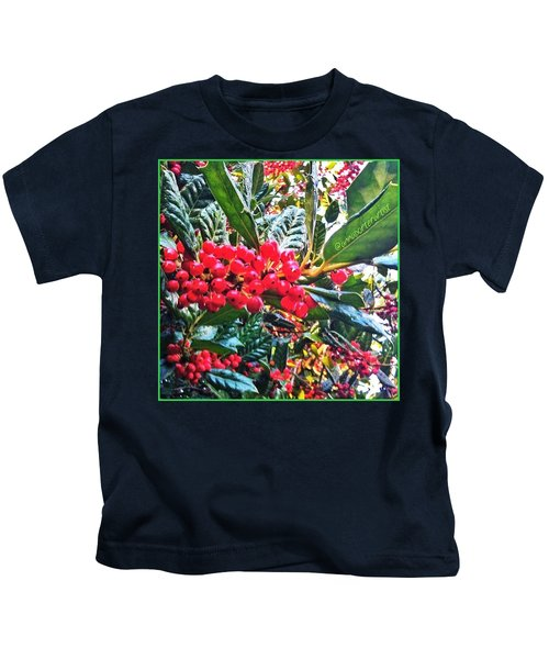 Holly Berries In The Sun Kids T-Shirt