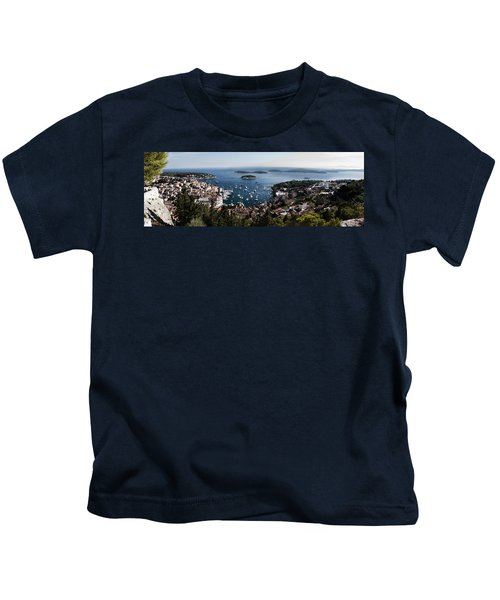 Hvar Harbor From The Fortress Kids T-Shirt