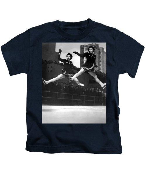 Ice Skaters Perform In Ny Kids T-Shirt