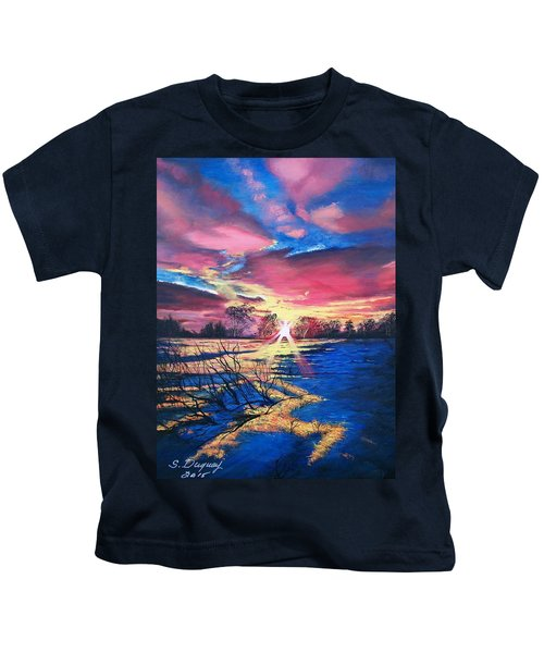 In The Still Of Dawn  Kids T-Shirt