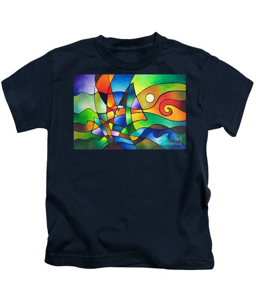 Into The Wind Kids T-Shirt