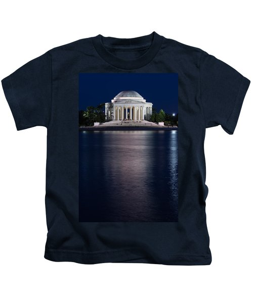 Jefferson Memorial Washington D C Kids T-Shirt by Steve Gadomski