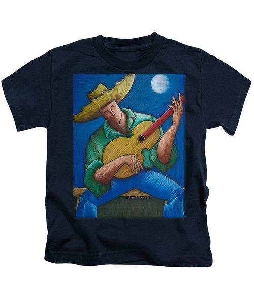 Jibaro Bajo La Luna Kids T-Shirt