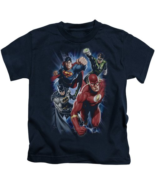 Jla - Storm Chasers Kids T-Shirt by Brand A
