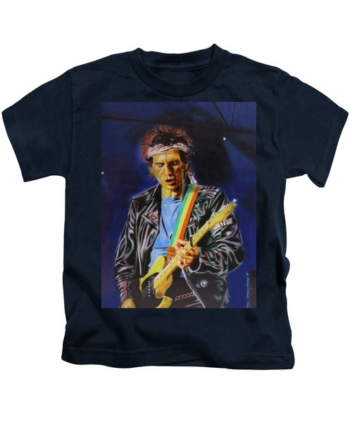 Keith Richards Of Rolling Stones Kids T-Shirt