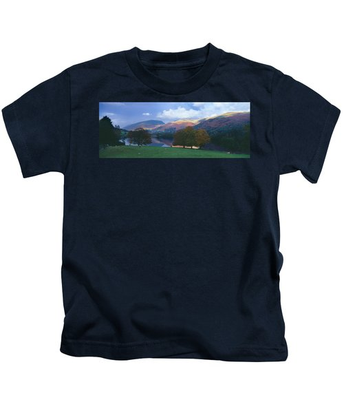 Lake Surrounded By Mountains, Grasmere Kids T-Shirt