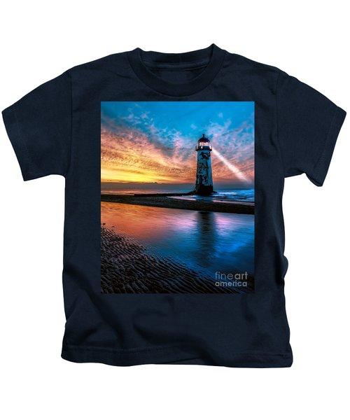 Light House Sunset Kids T-Shirt