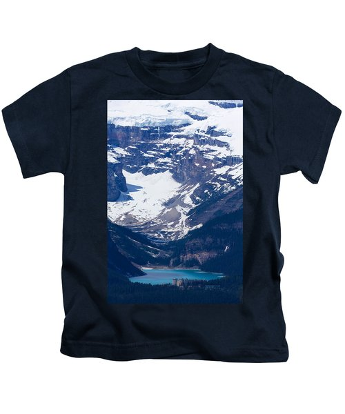 Looking Down At Lake Louise #2 Kids T-Shirt