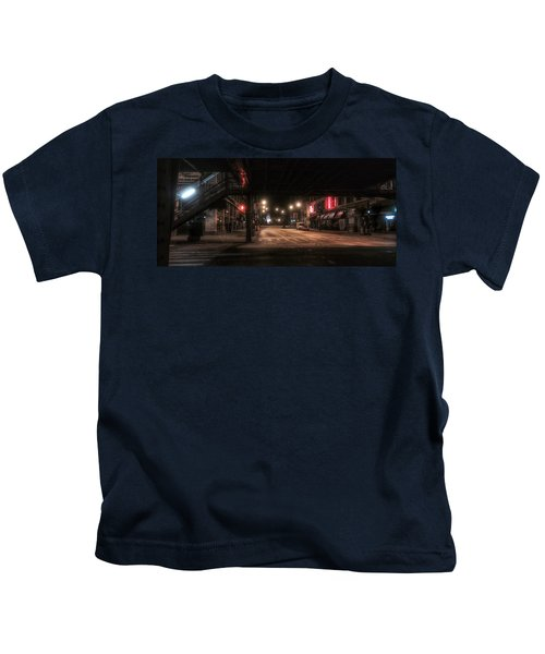 Looking East From Wabash Kids T-Shirt