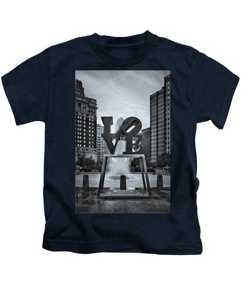 Love Park Bw Kids T-Shirt