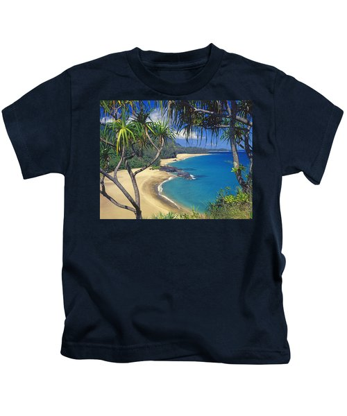 Lumahai Beach Kids T-Shirt