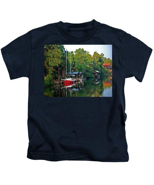 Magnolia Red Boat Kids T-Shirt