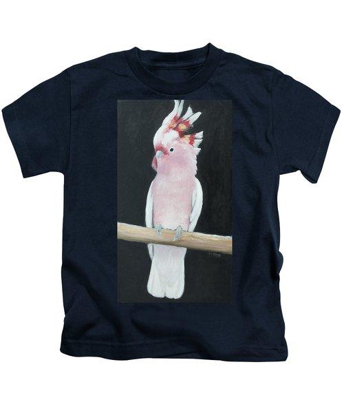 Major Mitchell Cockatoo Kids T-Shirt by Jan Matson