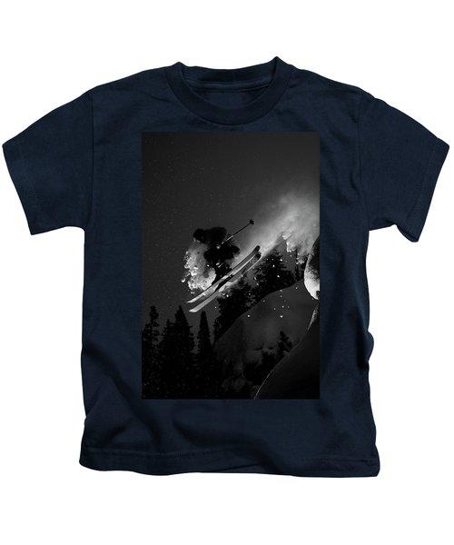 Man Jumping On Skis Kids T-Shirt