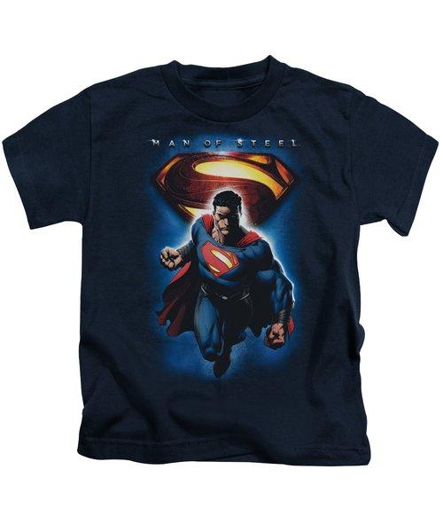Man Of Steel - Superman And Symbol Kids T-Shirt