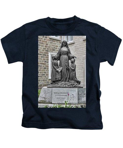 Marie De L Incarnation Sculpture Kids T-Shirt
