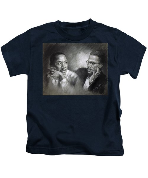 Martin Luther King Jr And Malcolm X Kids T-Shirt