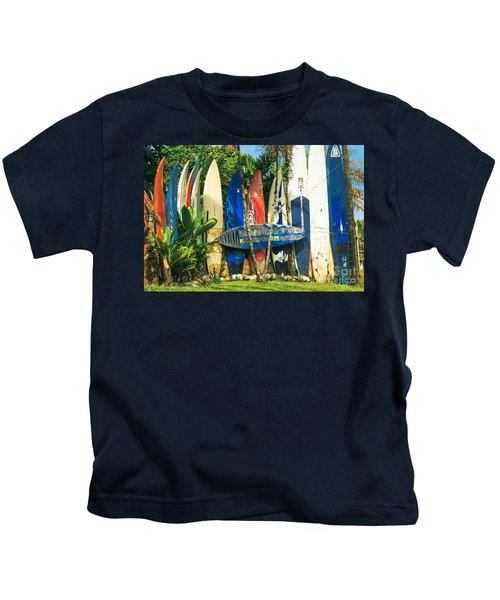 Maui Surfboard Fence - Peahi Hawaii Kids T-Shirt