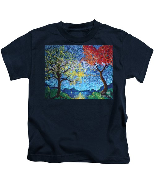 Our Ship Of Dreams Begins To Sail Kids T-Shirt