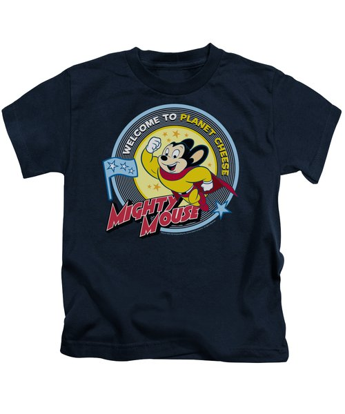 Mighty Mouse - Planet Cheese Kids T-Shirt by Brand A