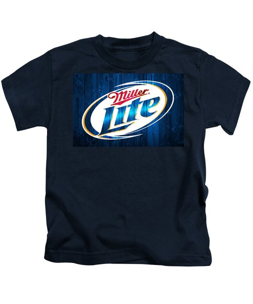 Miller Lite Barn Door Kids T-Shirt