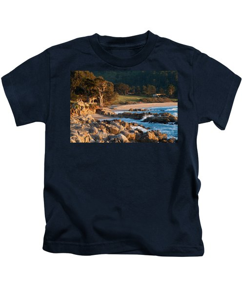Monastery Beach In Carmel California Kids T-Shirt