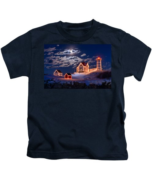Moon Over Nubble Kids T-Shirt