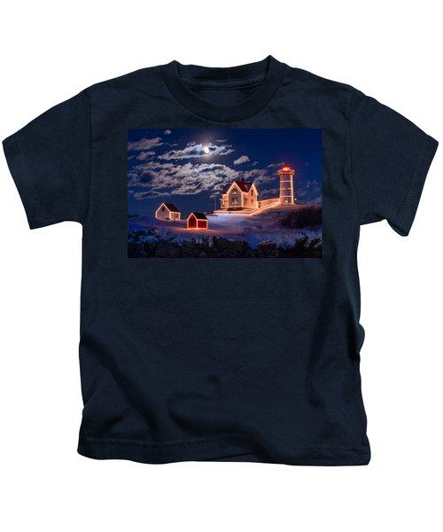 Moon Over Nubble Kids T-Shirt