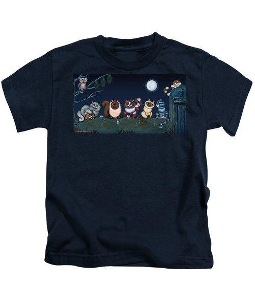 Moonlight On The Wall Kids T-Shirt