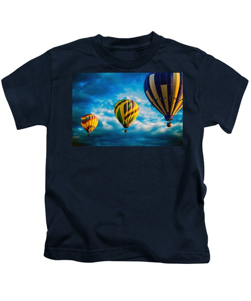 Morning Flight Hot Air Balloons Kids T-Shirt