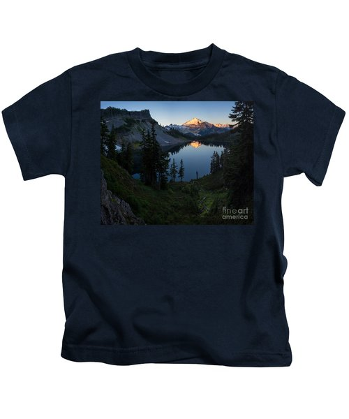 Mount Baker Chain Lakes Awakening Kids T-Shirt