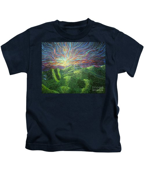 Mt. Mitchell  Kids T-Shirt