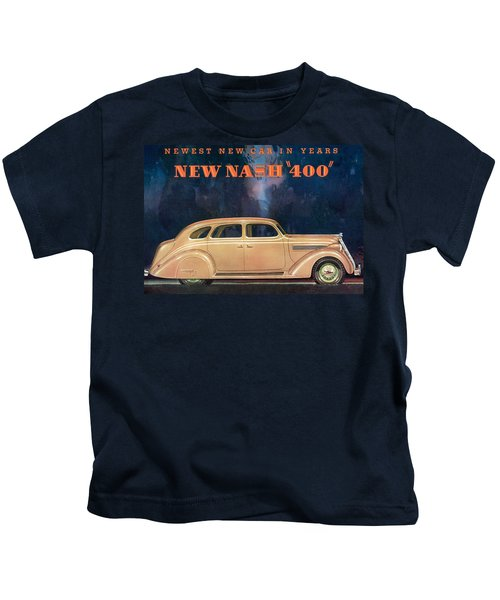 Nash 400 - Vintage Car Poster Kids T-Shirt