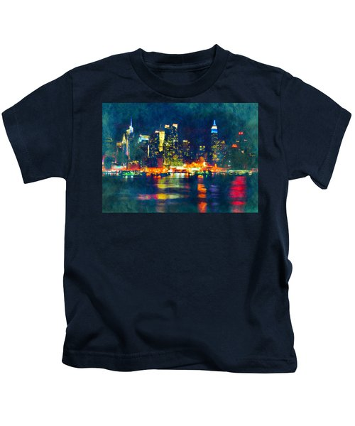 New York State Of Mind Abstract Realism Kids T-Shirt