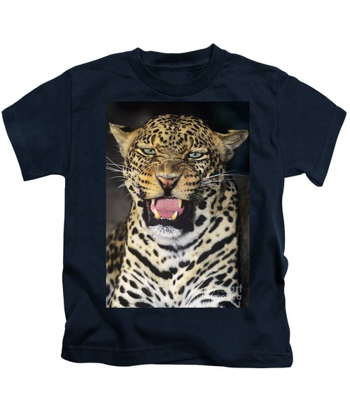No Solicitors African Leopard Endangered Species Wildlife Rescue Kids T-Shirt