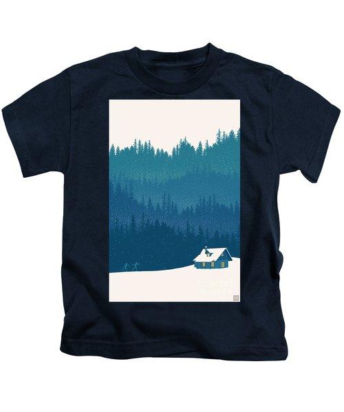 Nordic Ski Scene Kids T-Shirt