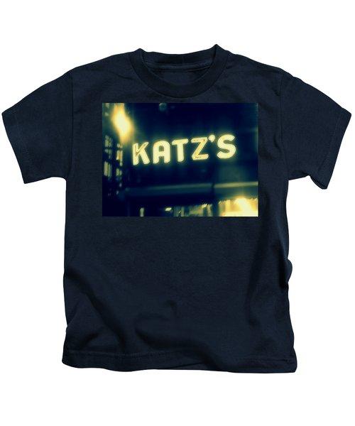 Nyc's Famous Katz's Deli Kids T-Shirt by Paulo Guimaraes