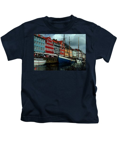 Kids T-Shirt featuring the photograph Nyhavn Copenhagen by Colette V Hera  Guggenheim