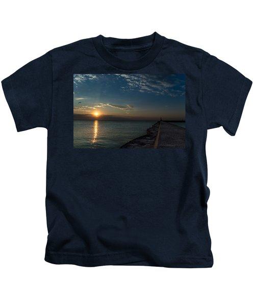 October Sunrise Kids T-Shirt
