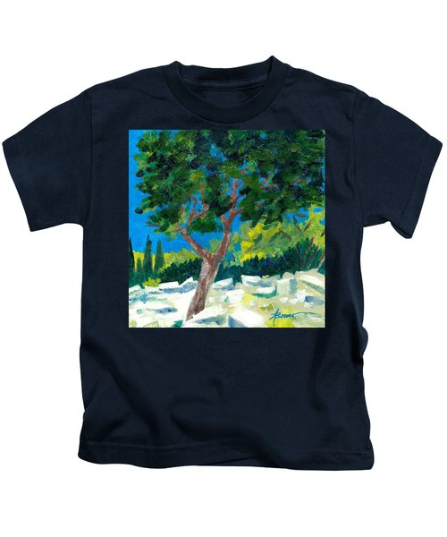 Old Ruins At Rhodes Kids T-Shirt