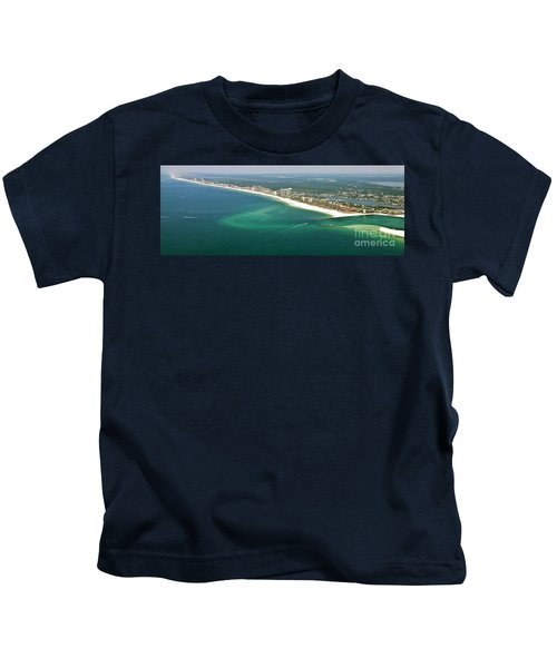 Looking N W Across Perdio Pass To Gulf Shores Kids T-Shirt