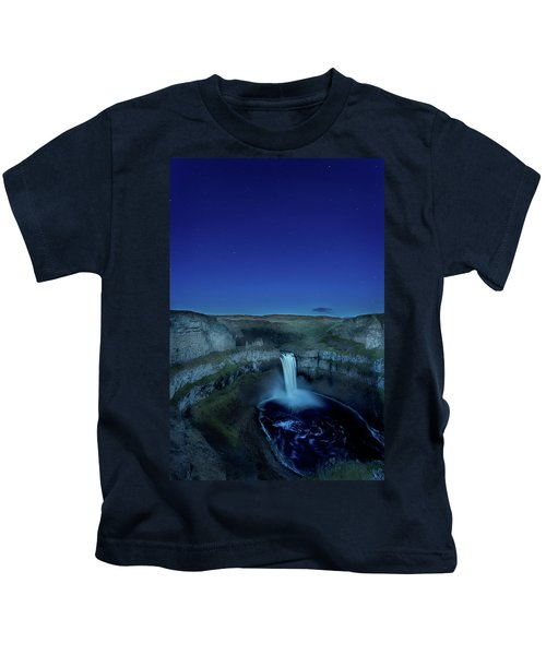 Palouse Falls Twilight During A Clear Kids T-Shirt
