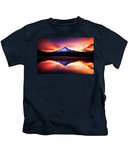 Peaceful Morning On The Lake Kids T-Shirt