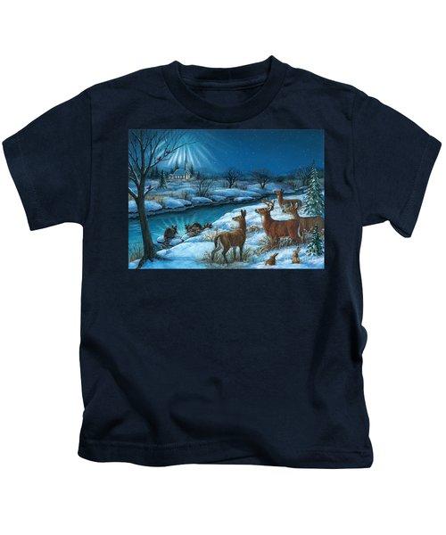 Peaceful Winters Night Kids T-Shirt